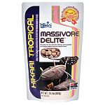 Hikari Massivore Delite is a complete, nutritionally balanced formulation, developed for BIG carnivorous fish whose main diet of live food tends to cause nutritional deficiencies. Using Massivore Delite instead of live foods reduces the chance of infectio