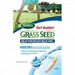 Super absorbent seed coating absorbs and realeases water even if you miss a day. Seed germinates 2 times faster and uses less water. Helps seedlings develop 25% thicker and deeper root systems. No grass seed is more weed free. Scotts turf builder heat tol