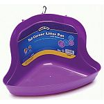 Extra high, flip-resistant litter pan that fits in the corner or cages. Locks onto all wire habitats. Easy to clean surface.  For Rabbits and Ferrets