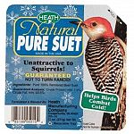 The Heath Natural Pure Suet offers a quick source of high energy for your backyard birds, which have a very high metabolism. Suet is a high-energy formulation of animal fat that is traditionally used to attract birds that do not normally come.