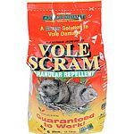Provides 600 square feet of protection per pound Stops vole damage Suitable for organic gardening - all natural ingredients Won t harm people, plants or animals Long lasting - up to 30 days of protection Made in the usa