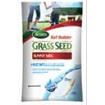 Scotts Turf Builder Sunny Mix Grass Seed is designed to withstand hot and sunny areas with few trees. Mix has Thermal Blue Kentucky Bluegrass that thrives in hot temperatures and lots of sun and is 99.99% weed free.