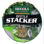 Birdola's Beetle Stacker Seed Cake is a tightly packed collection of seeds and freeze dried beetle larvae that will be sure to attract insect-eating birds that don't come to regular seed feeders.