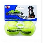 Give your dog these small size tennis balls for hours of playtime. Great for both interactive or solo play, these balls are made to last because they have a reinforced wall. Classic tennis ball shape and color.