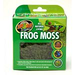 Frog moss, also called pillow moss, will come back to life and grow in proper terrarium conditions. Increases humidity in terrariums making it perfect for all high humidity loving species of reptiles or amphibians. For use with frogs, toads, salamanders,