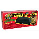 The 12 naturalistic terrarium hood includes a built-in reflector and socket for heat of uv lamps. This hood fits all 12 inch wide naturalistic terrariums (zoo med items# nt-1 or nt-2).