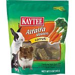 Kaytee carrot nibblers are a tasty nutritious treat designed specifically for your pet. Made with the freshest alfalfa hay and real carrots. Nibblers satisfy the natural craving to chew. While supplying your companion with a wholesome nutritious treat. Fe