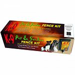 The Zareba K-9 Pet and Garden Fence Kit contains everything you need to install a quick and easy electric fence. This is just the right size to keep small animals out of a yard or garden.
