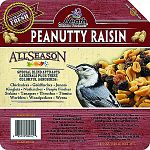 The Heath Peanutty Raisin Suet Mix offers a quick source of high energy for your backyard birds, which have a very high metabolism. Suet is an excellent substitute for insects on which birds usually feed that are not plentiful in cold weather.