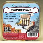 Your backyard birds love this Hot Pepper Suet Cake by Pine Tree Farms year round. A great source of energy and nutrition for wild birds, this suet cake contains real ground peppers that birds love to eat! Place in a suet feeder 5 feet above the ground.