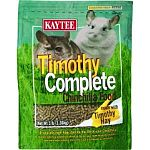 Timothy Complete Diet is specially formulated for chinchillas, guinea pigs and rabbits. This tasty diet may be given daily because it contains timothy hay and other essential nutrients. Pellet form and helps aid digestion in your small pet.