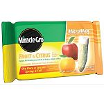 Miracle Gro Fruit and Citrus Tree Fertilizer Spikes are sold in a case of 12 and graually release fertilizer into the soil to feed fruit and citrus trees. Offers great slow-releasing fertilization that lasts a long time. Won't burn or harm other plants.