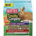 Nutritionally fortified daily diet made with fiber-rich, sun-cured timothy hay combined with other essential ingredients. Formulated specifically for pet rabbits. The added fruits and vegetables are rich in antioxidants and nutrients. Provides complete nu