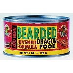 Tasty apple flavor for finicky bearded dragons. Comes in high protein juvenile formulation and a lower protein formula for adults. Canned foods have a two-year shelf life. Keep cans stored for emergencies or reptile-sitters.