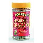 Food for juvenile bearded dragons. Higher in protein. Convenient, easy to serve container.