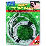 For very large or strong dogs up to 50 lbs Tangle free Weather resistant Extra strong snaps and cable