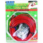 For dogs up to 80 lbs Lead line included. Easy to assemble and install