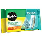 Miracle Gro Evergreen Fertilizer Spikes promotes deep green foliage and strong root growth! Conveniently delivers slow-release fertilization for lush, spectacular evergreens. Gives younger trees a healthy start.