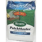 Easily fix bare spots on the lawn with this convenient and high quality mix of grass seed and fertilizer by Scotts. Ideal for use on most lawns with bare spots. Easy to use and makes the lawn look beautiful and lush. Bag size is 14.75 pounds.