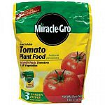Scotts Miracle Gro 100044, Miracle-Gro, 3 LB, 18-18-21, For Tomatoes, Water Soluble, For Tomatoes & All Vegetables, Double Feeding Action, Feeds Through Both The Roots & Leaves, Starts To Work Instantly, Promotes Quick, Beautiful Results.